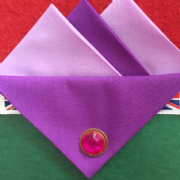 Dark and Light Purple Hankie With Dark Purple Flap and Pin